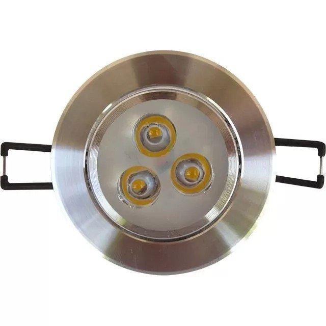 Spot LED 3X1W rotund rama aluminiu