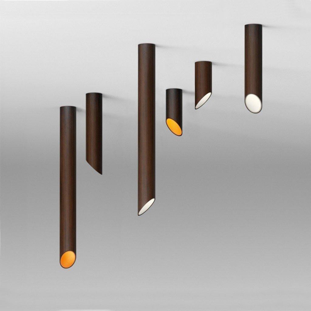Spoturi direcţionale 45, tubulare, negre, metalice