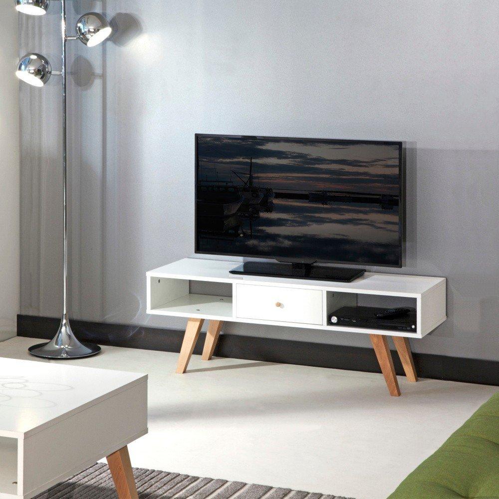 Stand TV Symbiosis Ula, alb, minimalist