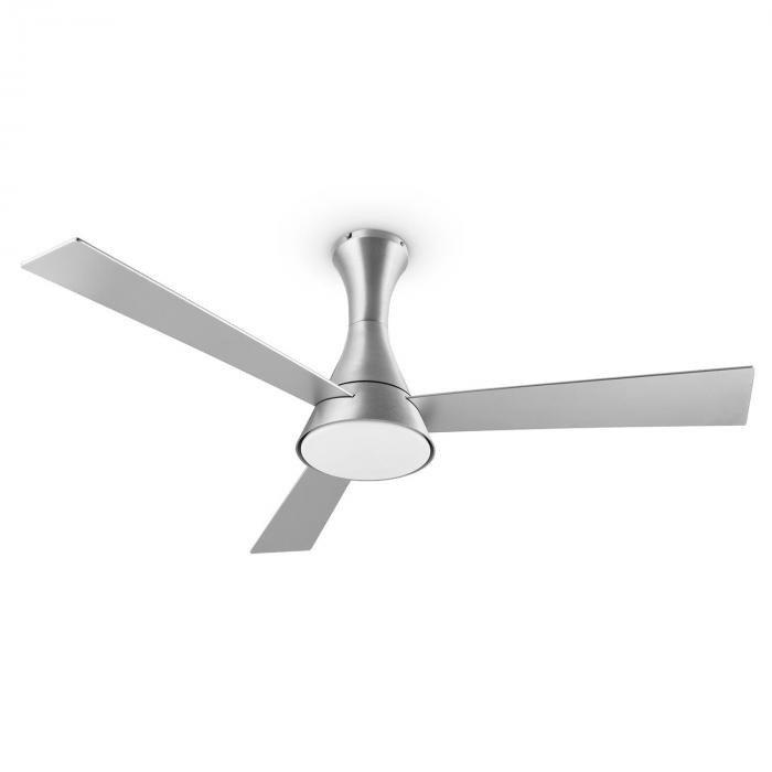 Steletto, 55W, ventilator de tavan cu lampă, 134 cm, oțel inoxidabil, telecomandă