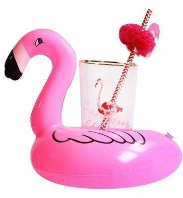 Suport colac gonflabil pentru bauturi sau accesorii piscina tip Flamingo culoare Roz