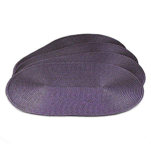Suport farfurie Deco, oval, violet, 30 x 45 cm, set 4 buc