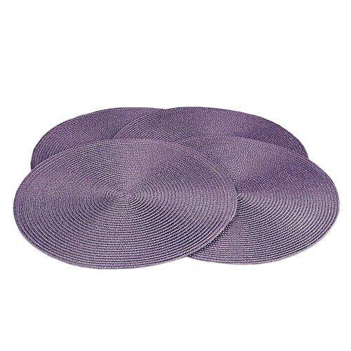 Suport farfurie Deco, rotund, violet, diam. 35 cm, set 4 buc.