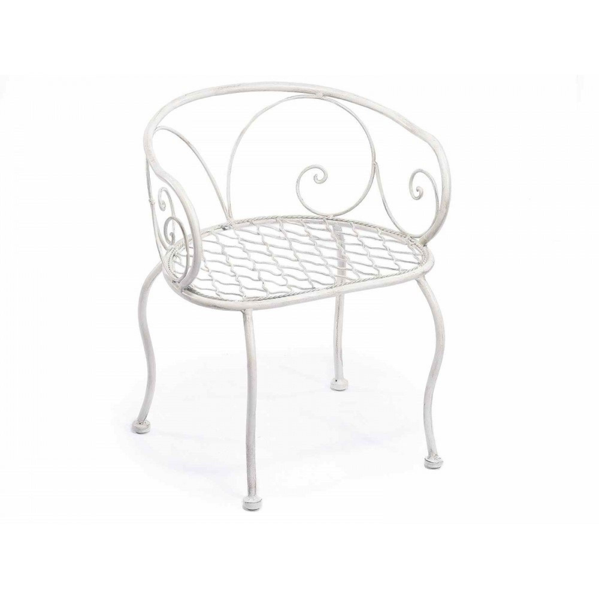 Suport flori metalic  Chair White