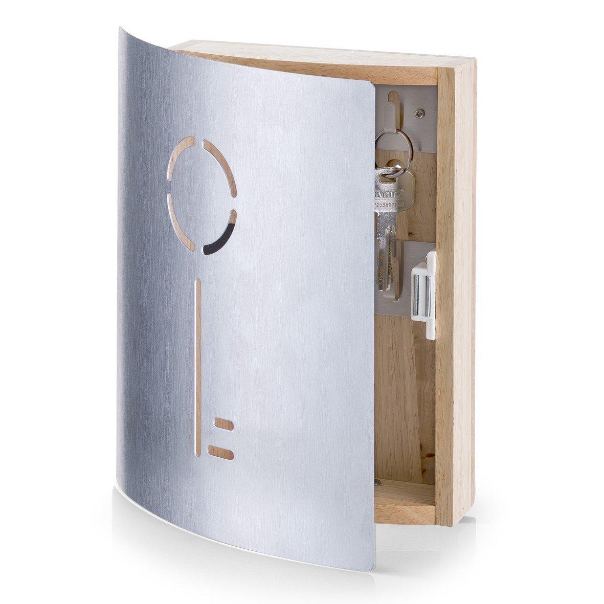 Suport pentru chei Rubber, Silver Wood cu inchidere magnetica