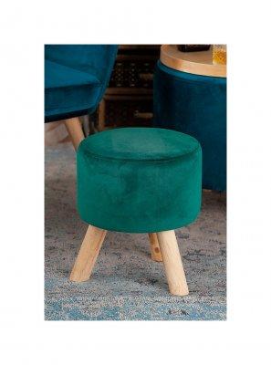Taburet Colombo Verde, catifea, design scandinav