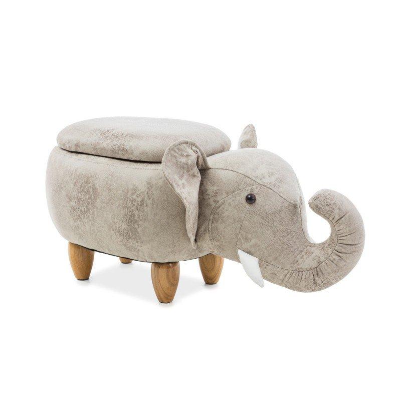 Taburete Elefant SL Sebastian gri, piele ecologica