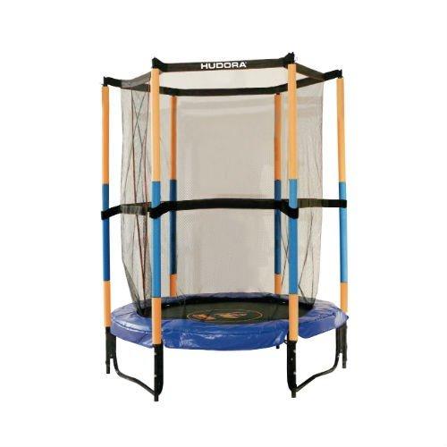 Trambulina copii 140cm, interior/exterior, rotunda, cu cadru de otel si plasa de siguranta