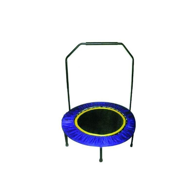 Trambulina cu maner, 96 cm, rotunda, albastra