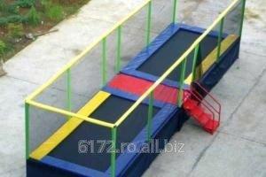 Trambuline pentru exterior, dreptunghiulare, colorate