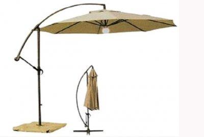 Umbrela pentru terasa cu iluminare electrica