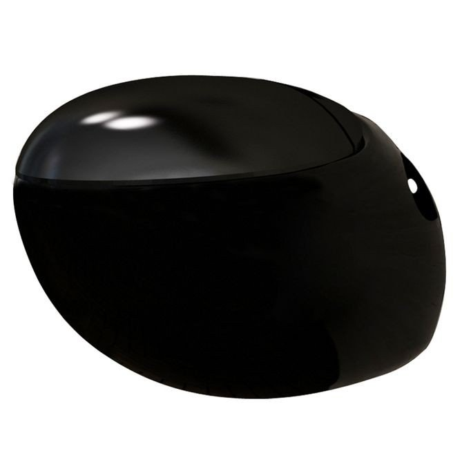 Vas WC suspendat formă ou, negru, ceramica