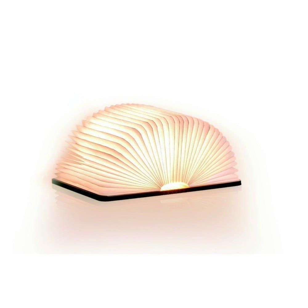 Veioză carte din lemn de arțar, cu LED Gingko Mini, maro deschis