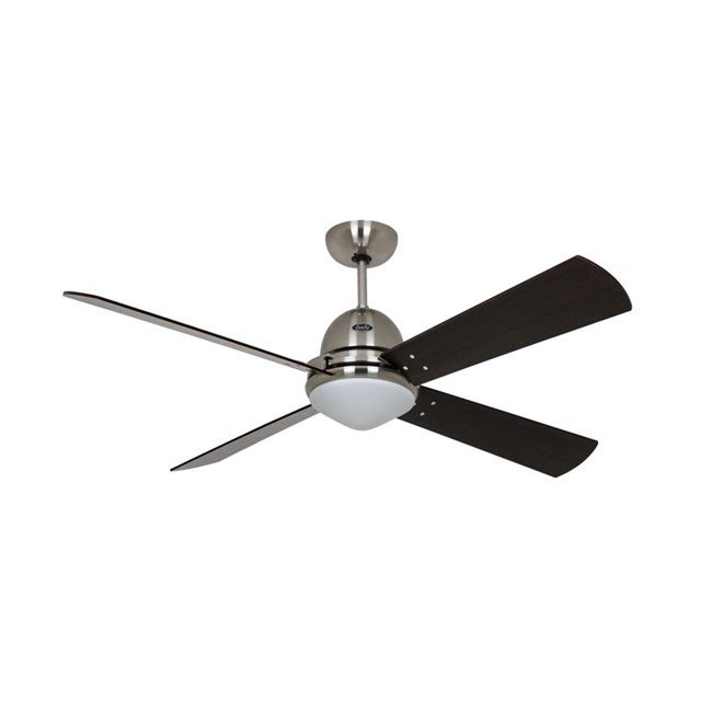 Ventilator de tavan cu iluminare LIBECCIO, negru, otel/mdf