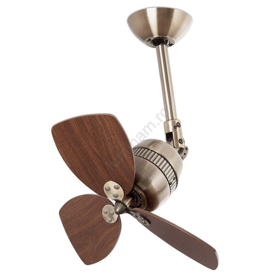 Ventilator tavan VEDRA, lemn/metal, maro