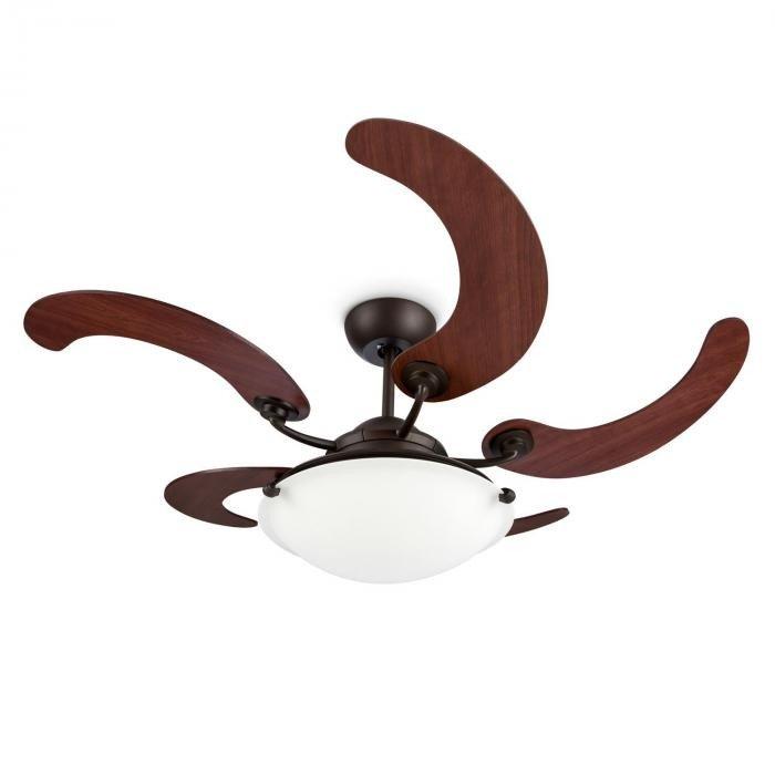 Viola, ventilator de tavan, lampă cu rotor cu 5 palete din lemn de artar