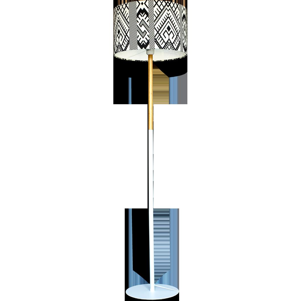 Lampadar cu abajur textil - Rapciune