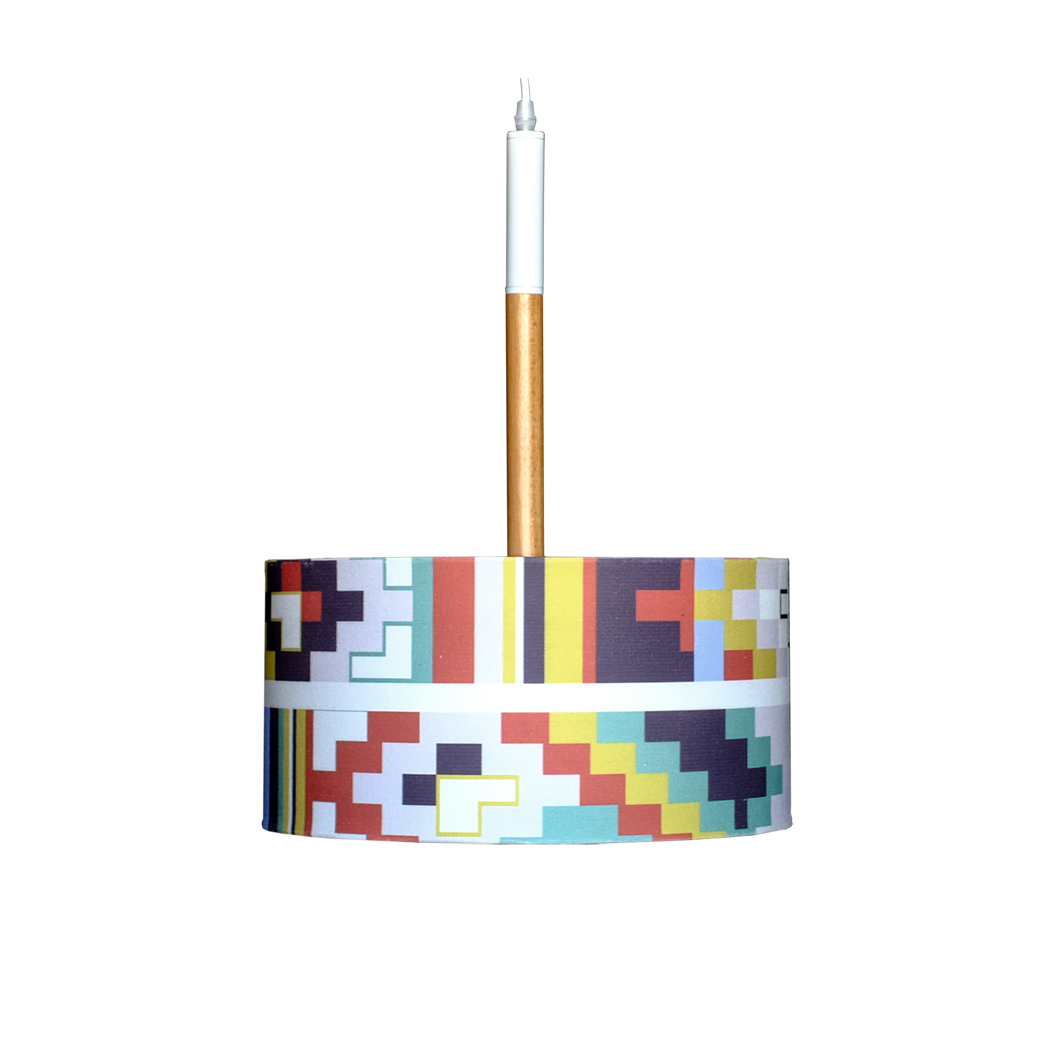 Lustra cu abajur textil - Cuptor