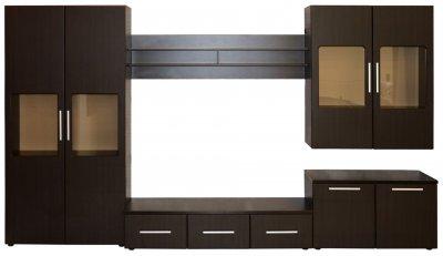 Biblioteca Armonia Wenge / MDF Wenge, 350 x 203 x 49 cm