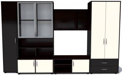 Biblioteca Miraj Wenge/Vanilie, 320 x 201 x 57 cm