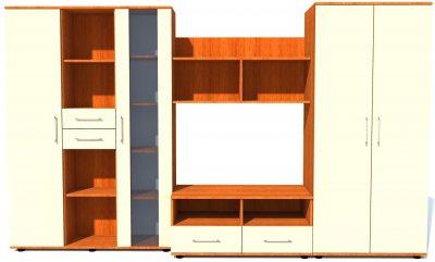 Biblioteca Selena Cires/Vanilie, 292 x 200 x 57 cm