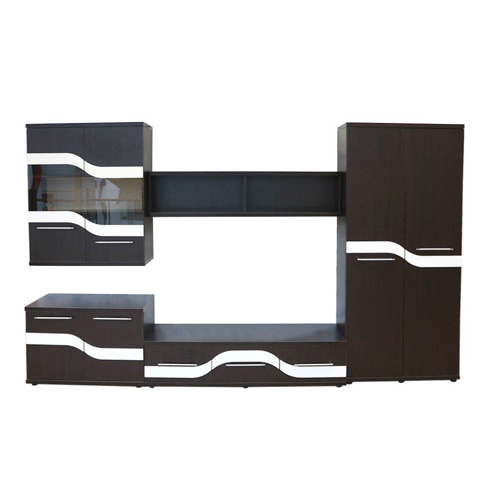 Biblioteca Sigma Wenge/MDF Alb, 330 x 203 x 49 cm
