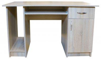 Birou Nero cu 1 usa si 1 sertar, Sonoma, 120 x 74 x 60 cm