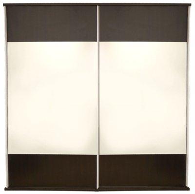 Dulap Laguna 2 usi culisante cu oglinzi, 178 x 60 x 210 cm, Wenge