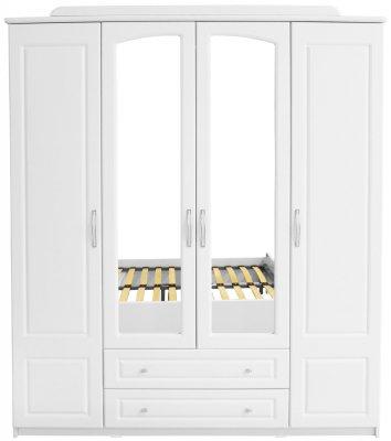 Dulap Sara cu oglinzi, 180 x 219 x 57 cm, Alb / MDF Alb Mat