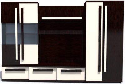 Living Carisma Dreapta Wenge/Vanilie, 300 x 203 x 52 cm