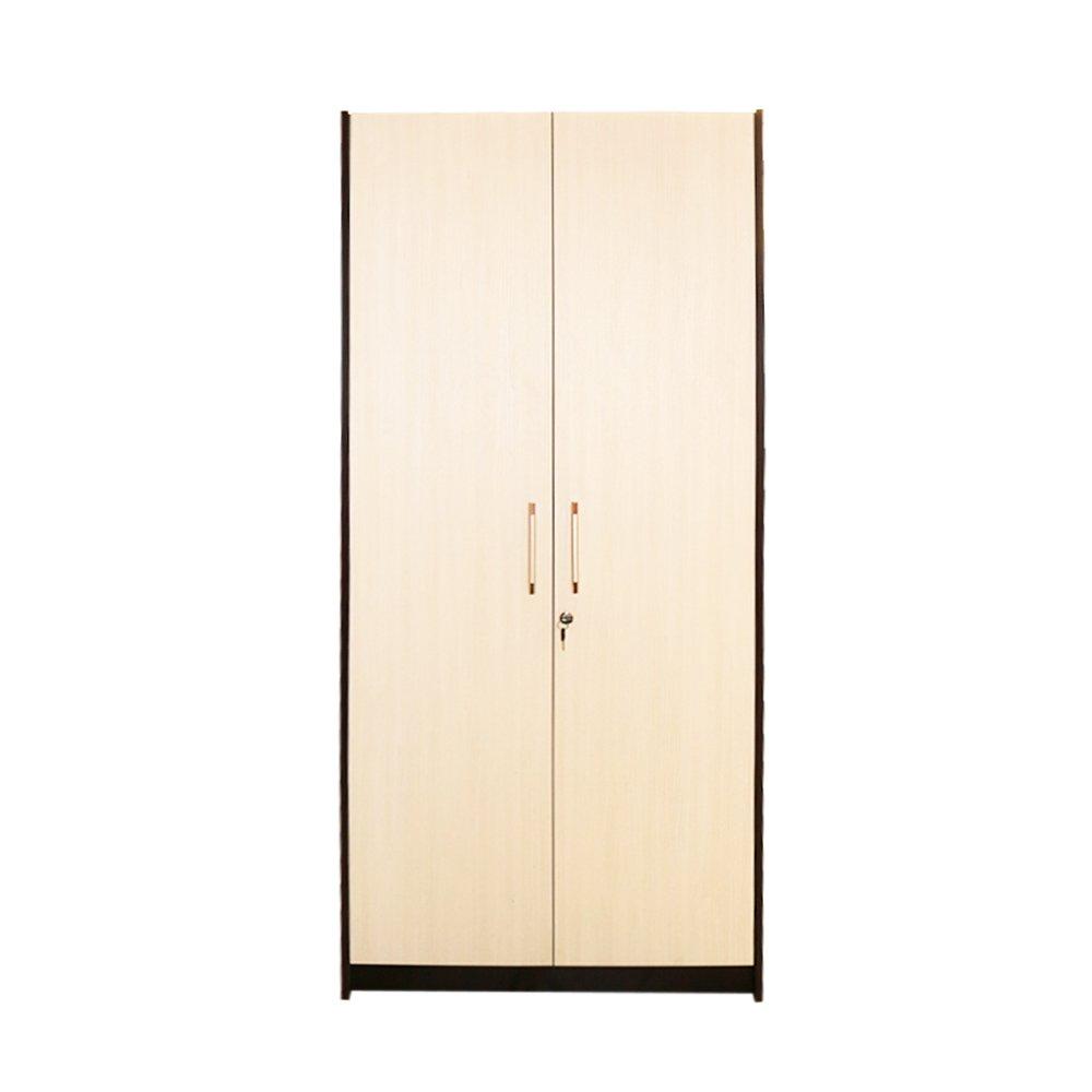 Raft birou 2 usi mari, Wenge/Brad, 80 x 190 x 36 cm