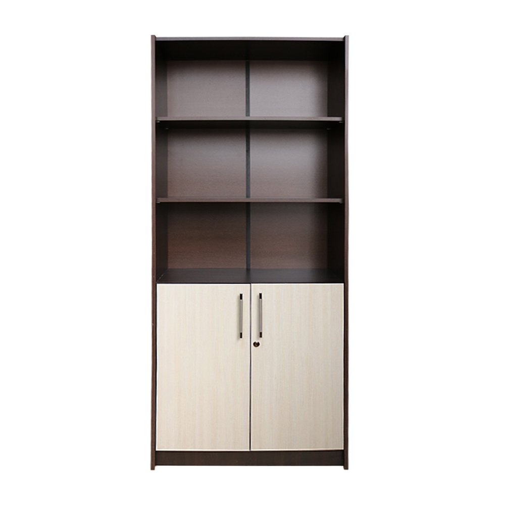 Raft birou 2 usi mici, Wenge/Brad, 80 x 190 x 36 cm